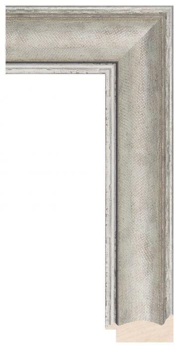 Houten lijst - LILLE - Zilver breed 59 mm
