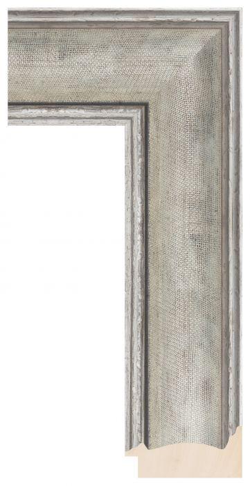 Houten lijst - LILLE - Zilver breed 73 mm