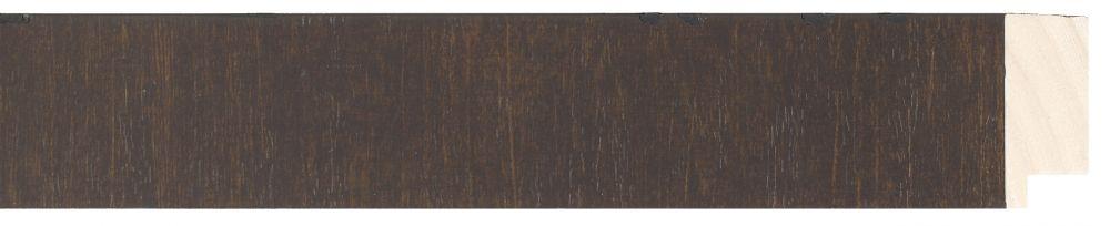 Houten lijst -  NAVARRA - Repro Fineer Wenge, Bruin breed 40 mm