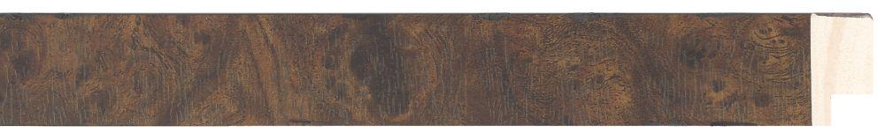 Houten lijst - NAVARRA - Repro Fineer, Wortelnoten, Mahonie, Bruin breed 28 mm