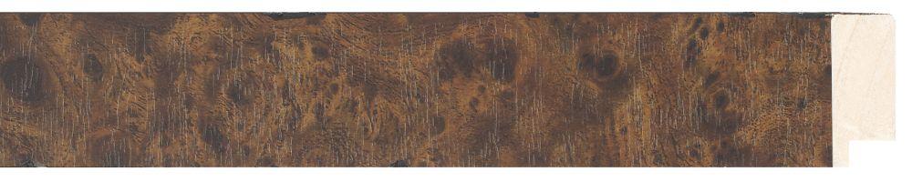 Houten lijst - NAVARRA - Repro Fineer, Wortelnoten, Mahonie, Bruin  breed 40 mm