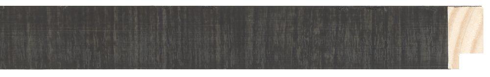 Houten lijst -  NAVARRA - Repro Fineer Zwart, Antracie breed 28 mm