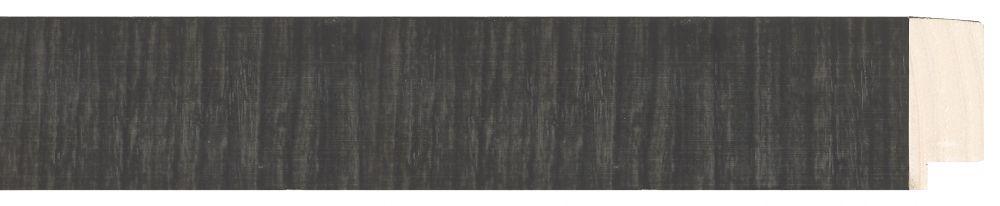 Houten lijst - NAVARRA - Repro Fineer Zwart, Antraciet breed 40 mm