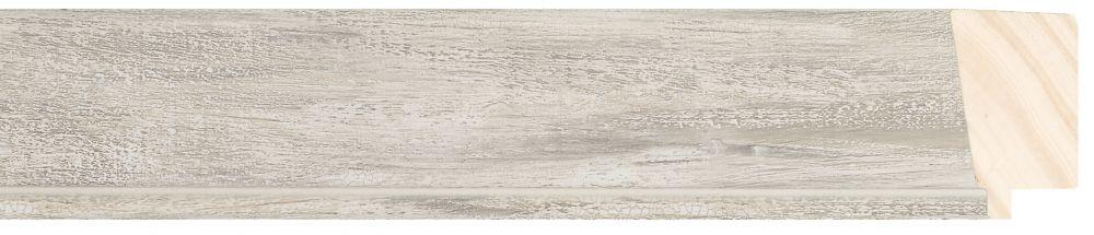 Houten lijst - PEDRAZA - Zilver gewassen breed 43 mm