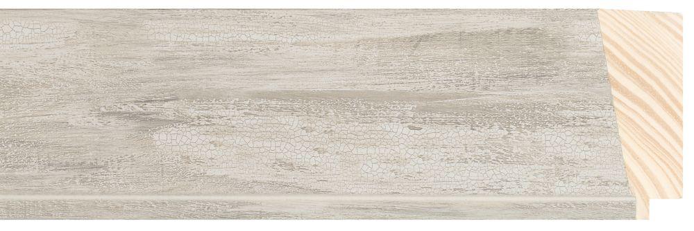 Houten lijst - PEDRAZA - Zilver gewassen breed 70 mm