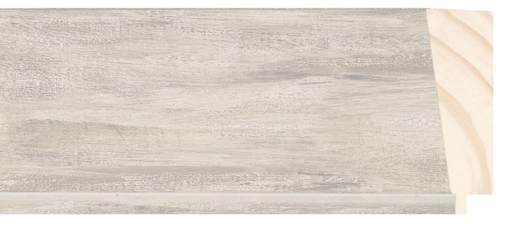 Houten lijst -  PEDRAZA - Zilver gewassen breed 90 mm