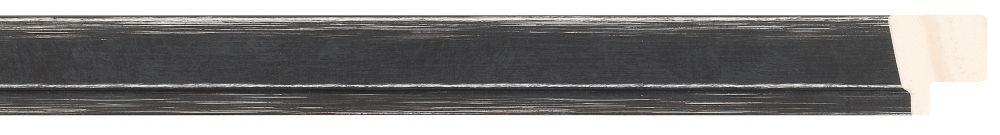 Houten lijst - PEDRAZA - Zwart gewassen, Grijs breed 22 mm