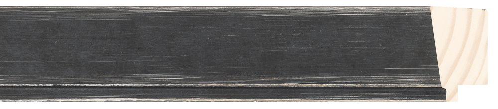 Houten lijst - PEDRAZA - Zwart gewassen, Grijs breed 43 mm