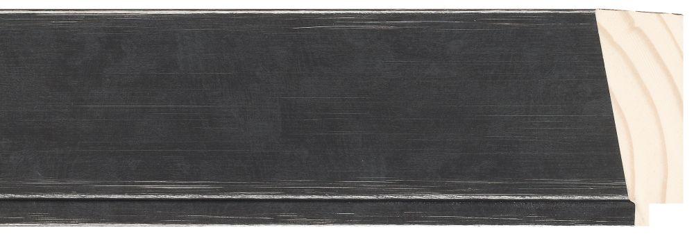 Houten lijst - PEDRAZA - Zwart gewassen, Grijs breed 70 mm