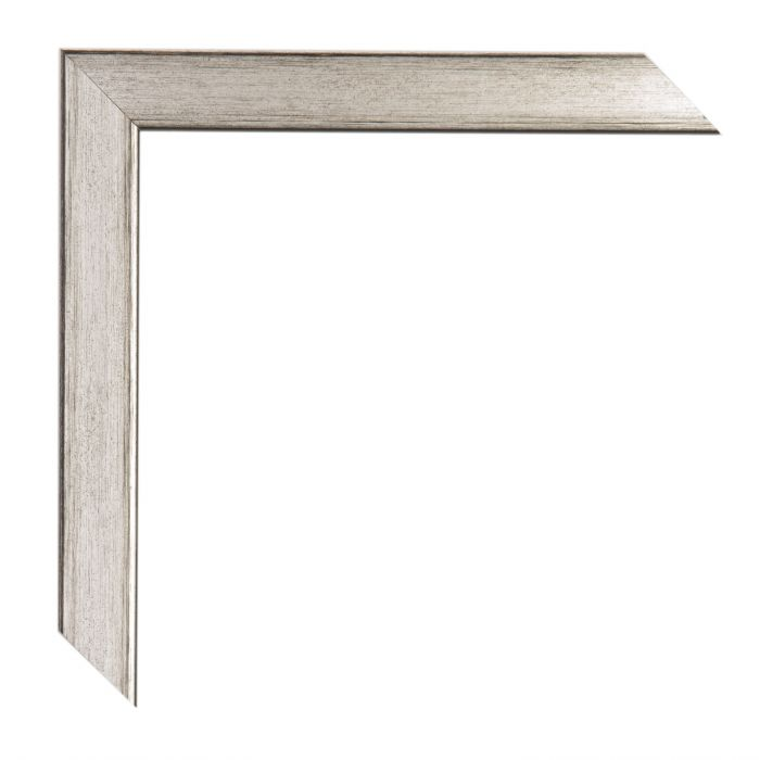 Houten lijst - PONTI - Zilver zwart breed 21 mm