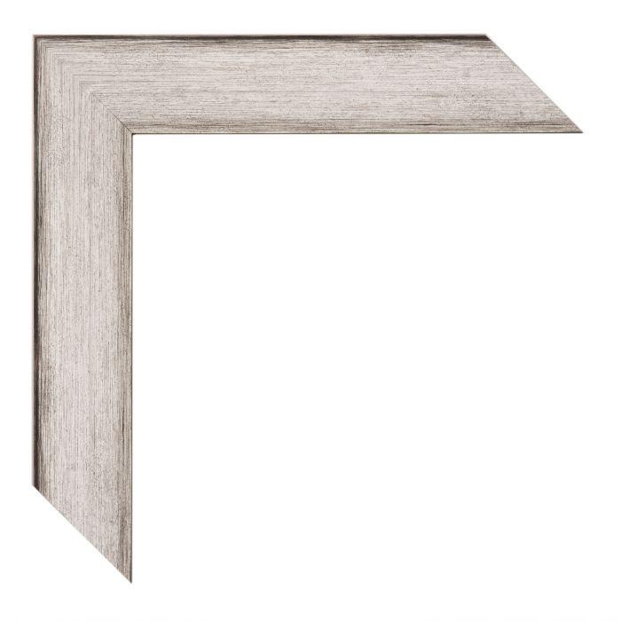 Houten lijst -PONTI - Zilver zwart  breed 33 mm