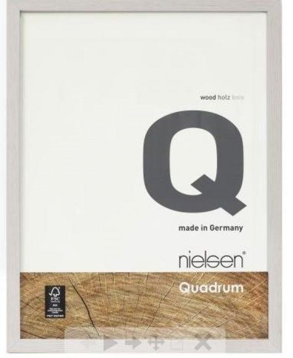 Houten wissellijst Quadrum - Cementgrijs
