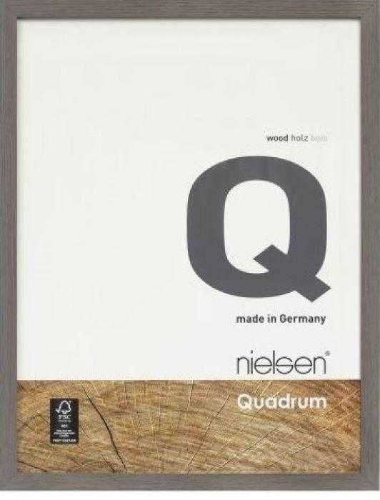 Houten wissellijst Quadrum - Leembruin