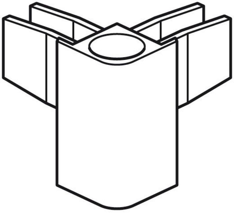 STAS cliprail max combicap wit (2x eindkap/1x hoekkap)