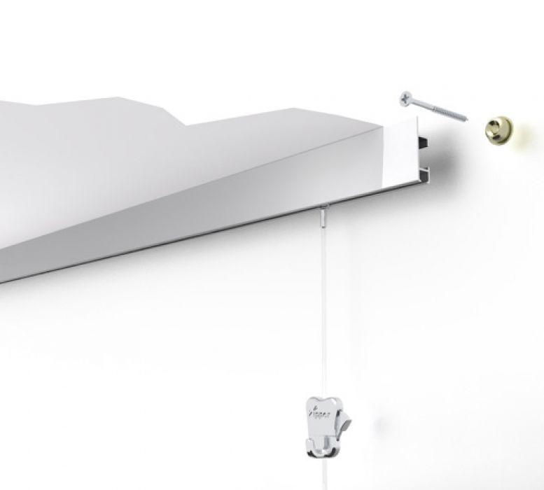 STAS cliprail max wit 200 cm of 300 cm