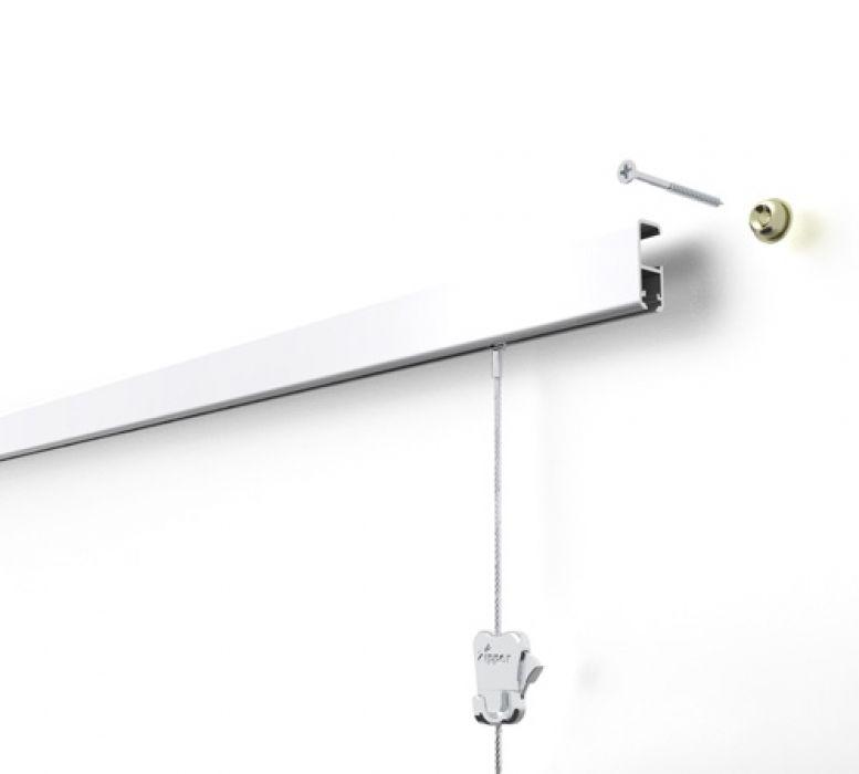 STAS cliprail pro wit 200 cm of 300 cm