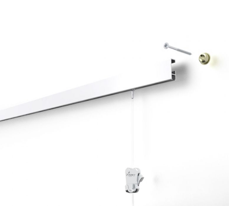 STAS cliprail wit 20 kg/m¹ 200 cm of 300 cm