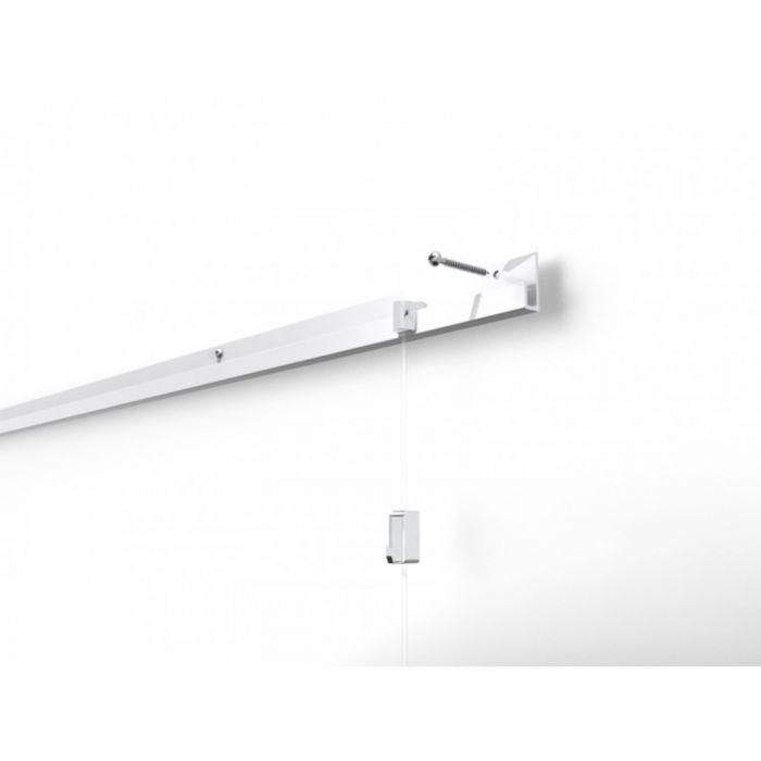 STAS j-rail wit 200 cm of 300 cm (4 gaten per m1 ) 25 kg/ m¹