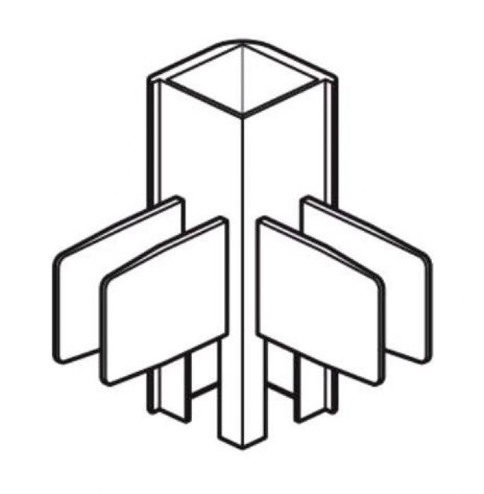 STAS multirail max hoekverbinder wit