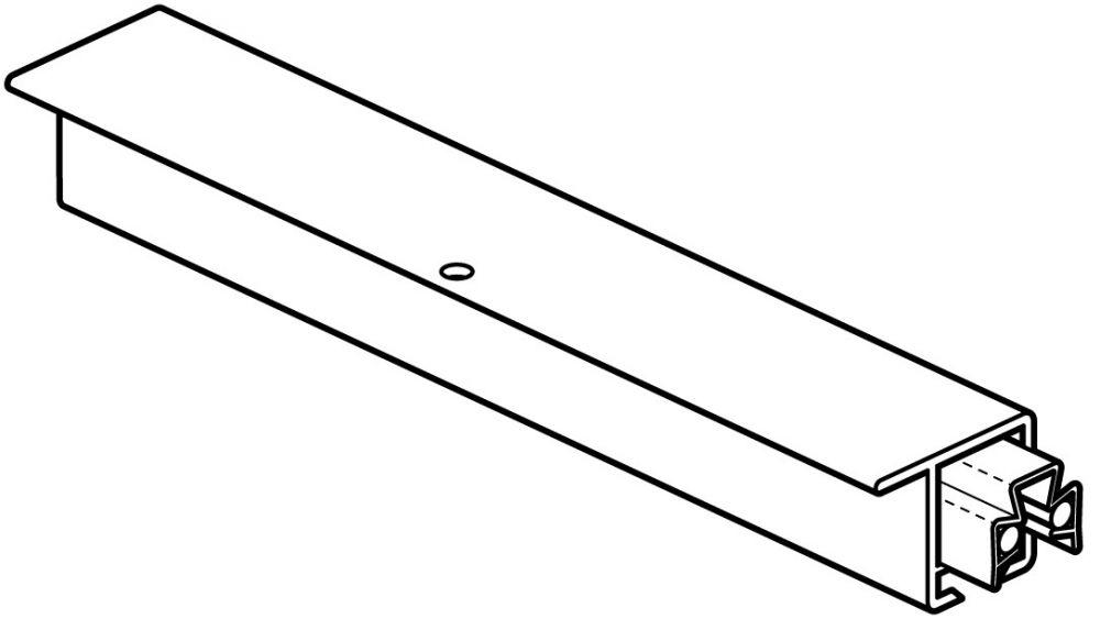 STAS u-rail multi alu 200 cm of 300 cm (8 gaten per m1 )