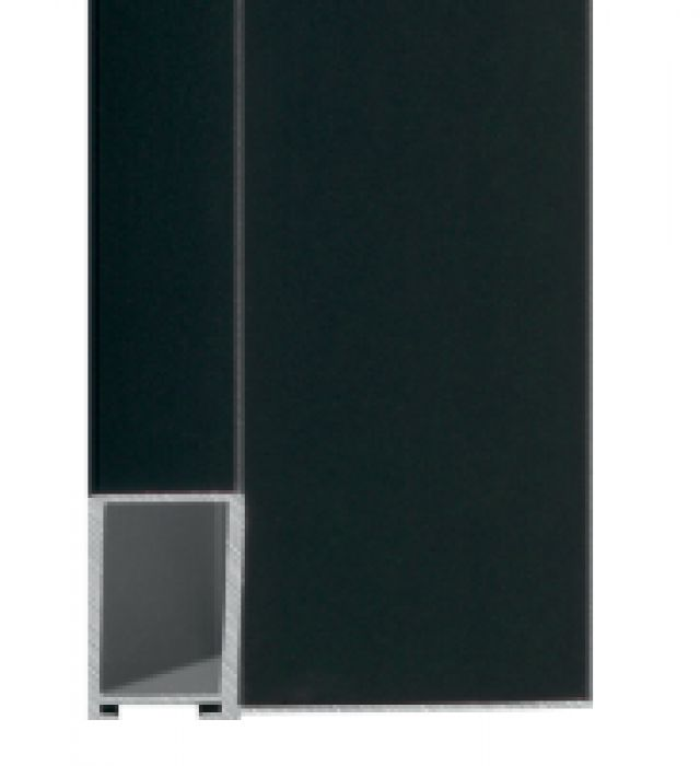 Aluminium baklijst kleur zwart  NIELSEN -profiel 227 -250