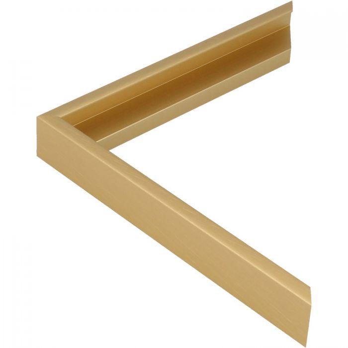 Aluminium lijst - CLARK - Profiel 411 - Kruisgeborsteld goud