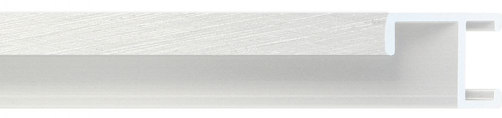 Aluminium lijst - CLARK - Profiel 411 - Kruisgeborsteld zilver