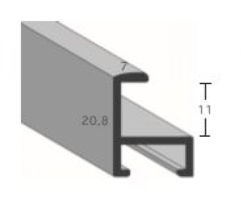 Aluminium lijst - CLARK - Profiel 411 - Kruisgeborsteld zwart mat