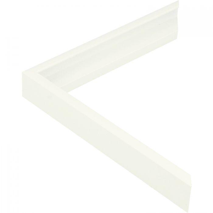 Aluminium lijst - CLARK - Profiel 411 - Wit poedercoating