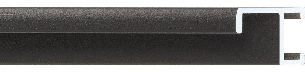 Aluminium lijst - CLARK - Profiel 411 - Zwart poedercoating
