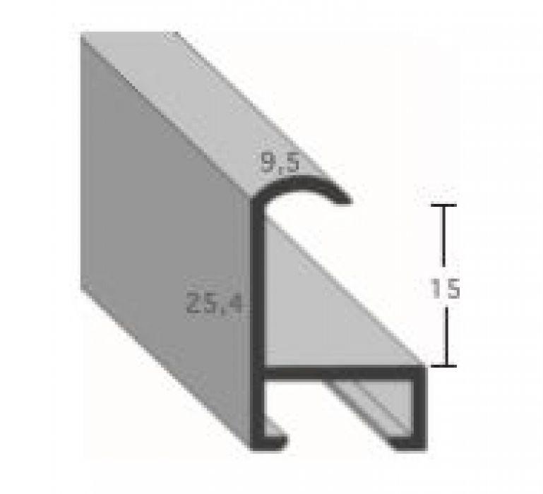 Aluminium lijst - CLARK - Profiel 415 - Geborsteld zwart mat