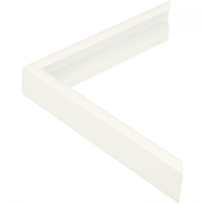 Aluminium lijst - CLARK - Profiel 415 - Gelakt wit RAL9003