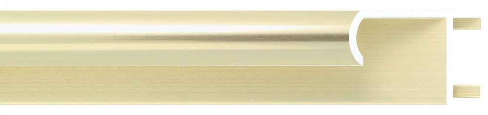 Aluminium lijst -CLARK - Profiel 415 - Glanzend geborsteld champagne