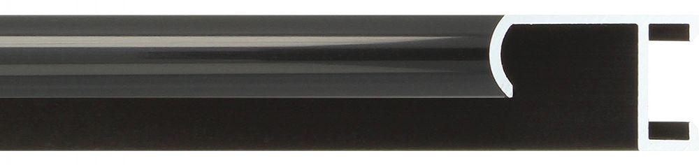 Aluminium lijst -CLARK - Profiel 415 - Glanzend geborsteld zwart