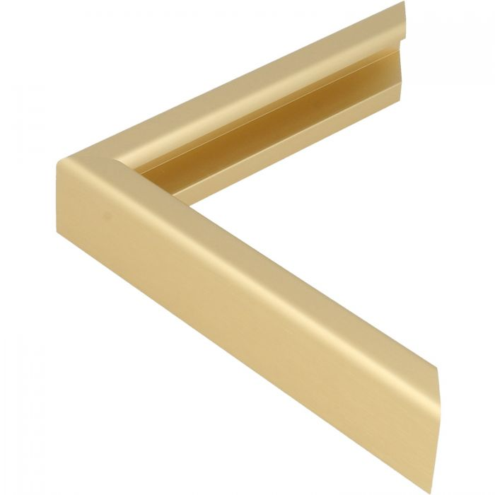 Aluminium lijst - CLARK - Profiel 427 - Geborsteld goud mat
