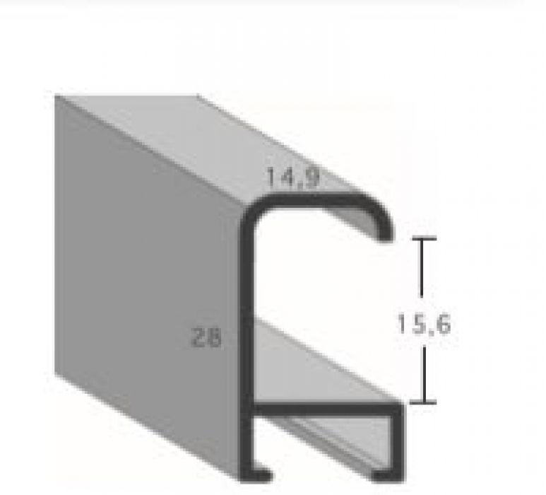 Aluminium lijst - CLARK - Profiel 427 - Geborsteld zwart mat