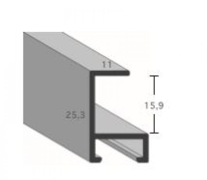 Aluminium lijst - CLARK - Profiel 450 - Geborsteld zwart mat