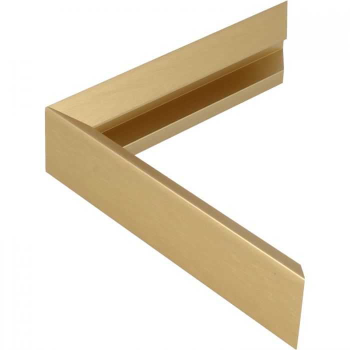 Aluminium lijst -CLARK - Profiel 451 - Kruisgeborsteld goud