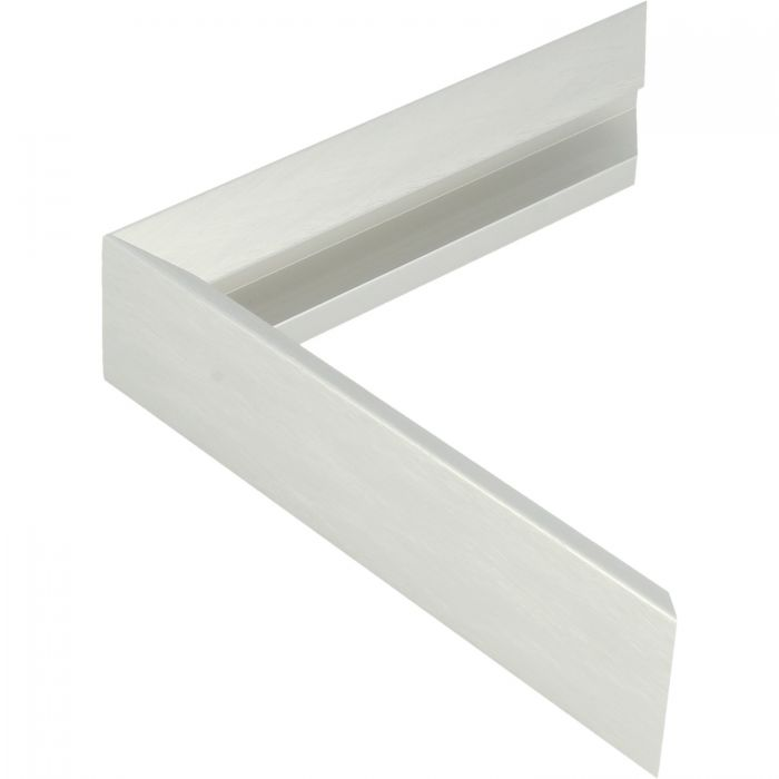 Aluminium lijst -CLARK - Profiel 451 - Kruisgeborsteld zilver