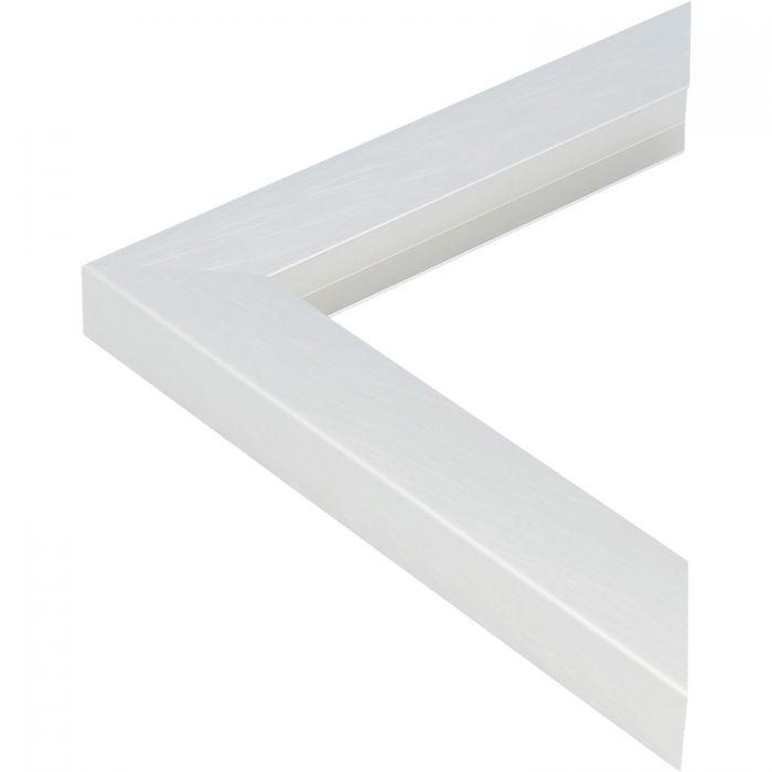 Aluminium lijst - CLARK - Profiel 462 - Kruisgeborsteld zilver