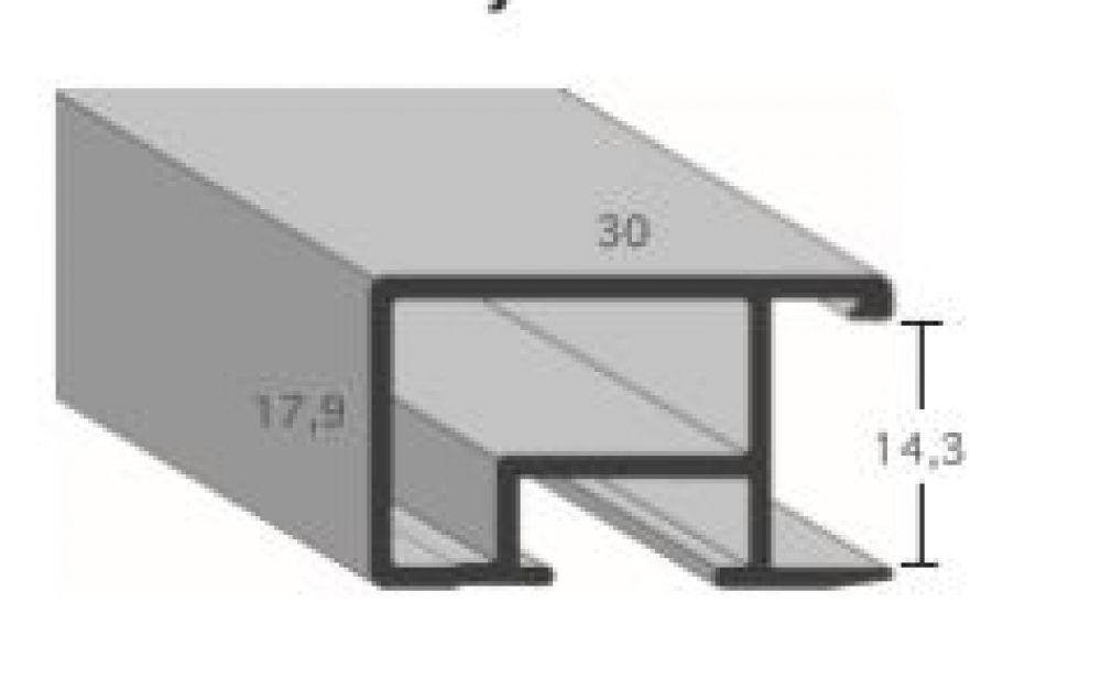 Aluminium lijst - CLARK - Profiel 469 - Geborsteld goud mat