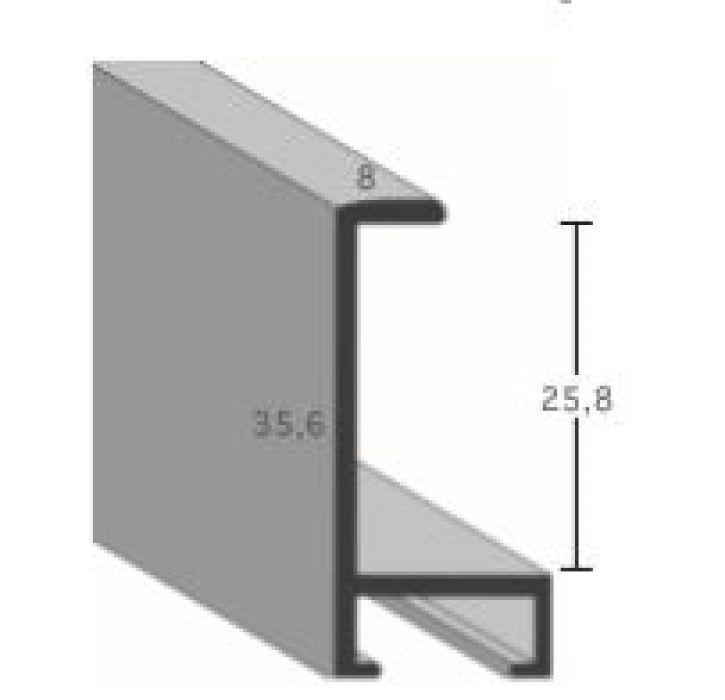 Aluminium lijst -  Profiel 422 - Geborsteld zilver mat