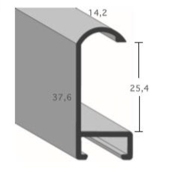 Aluminium lijst -  Profiel 471 - Geborsteld zilver mat
