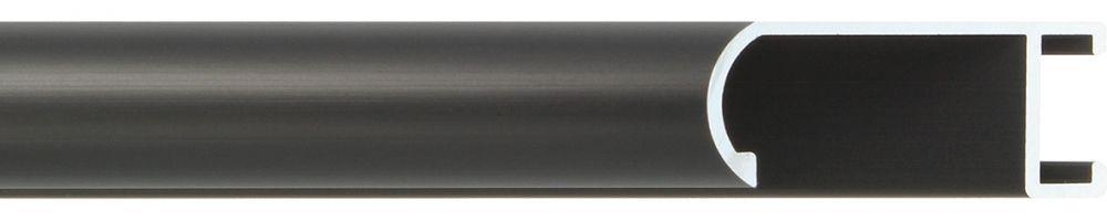 Aluminium lijst -  Profiel 471 - Geborsteld zwart mat