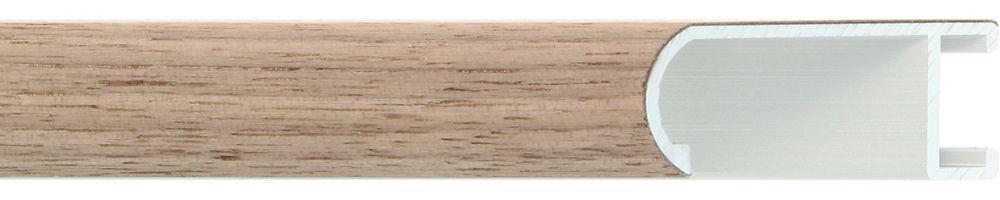 Aluminium lijst - Profiel 471 - Walnoot fineer