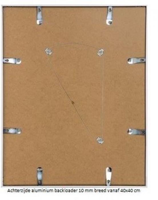 ALUMINIUM WISSELLIJST M109 MAT CHAMPAGNE vlak profiel  (helder glas)