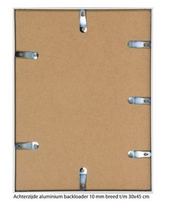 ALUMINIUM WISSELLIJST M125 MAT BRONS 3  facetrandje  (helder glas)
