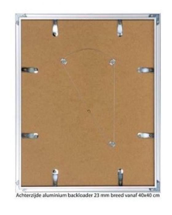 ALUMINIUM WISSELLIJST M62 MAT CHAMPAGNE rand 23 mm (helder glas)