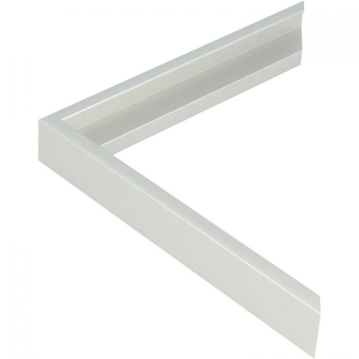Beschrijving Aluminium lijst - CLARK - Profiel 411 - Geborsteld zilver mat