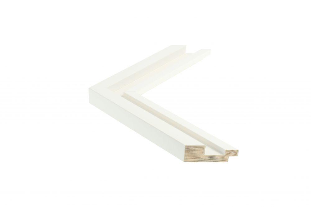 Beschrijving Houten lijst - SHUTTER - Wit Foam-Arcylaat lijst Profielbreedte: 40 mm